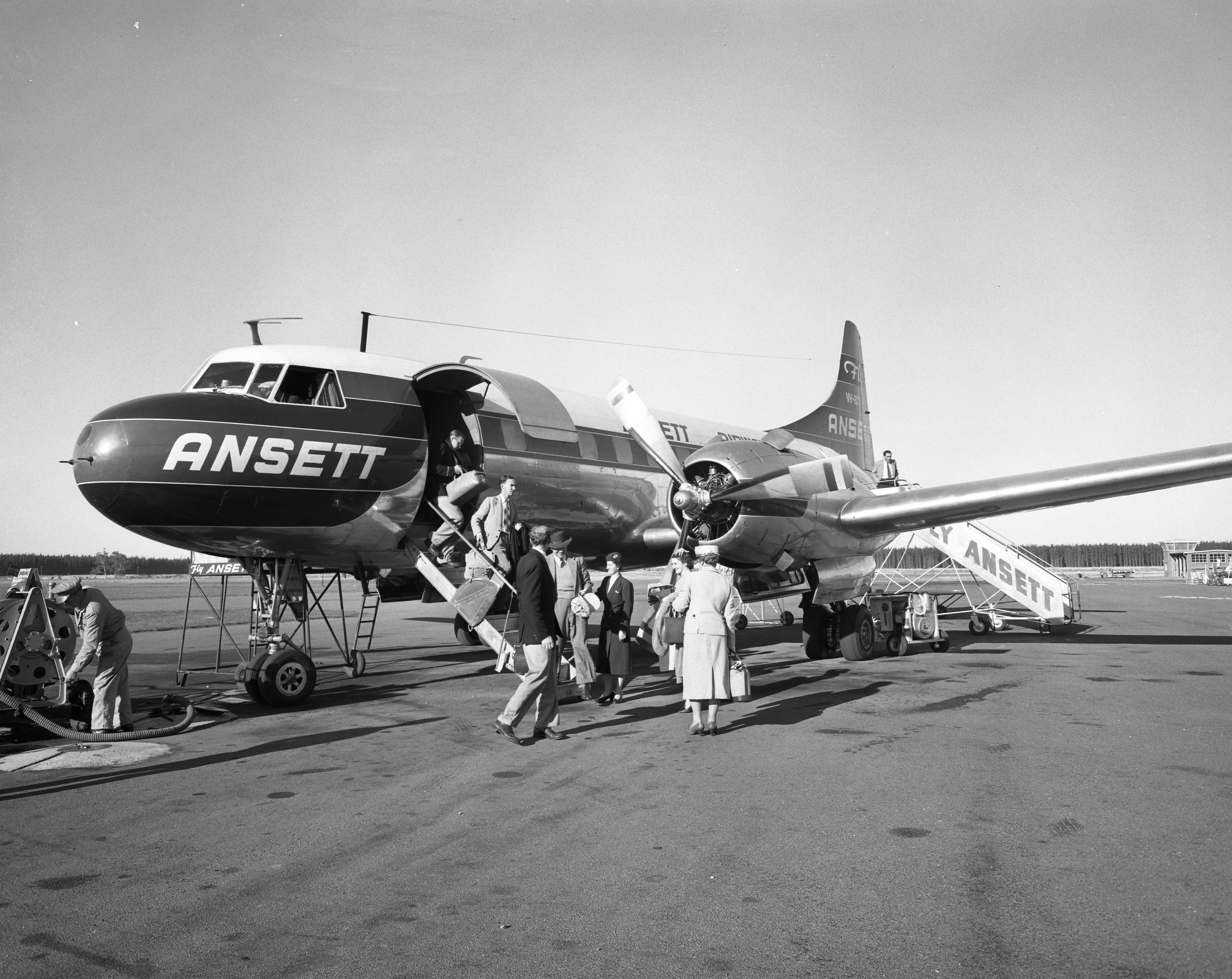 Ansett Convair CV-340 at Llanherne