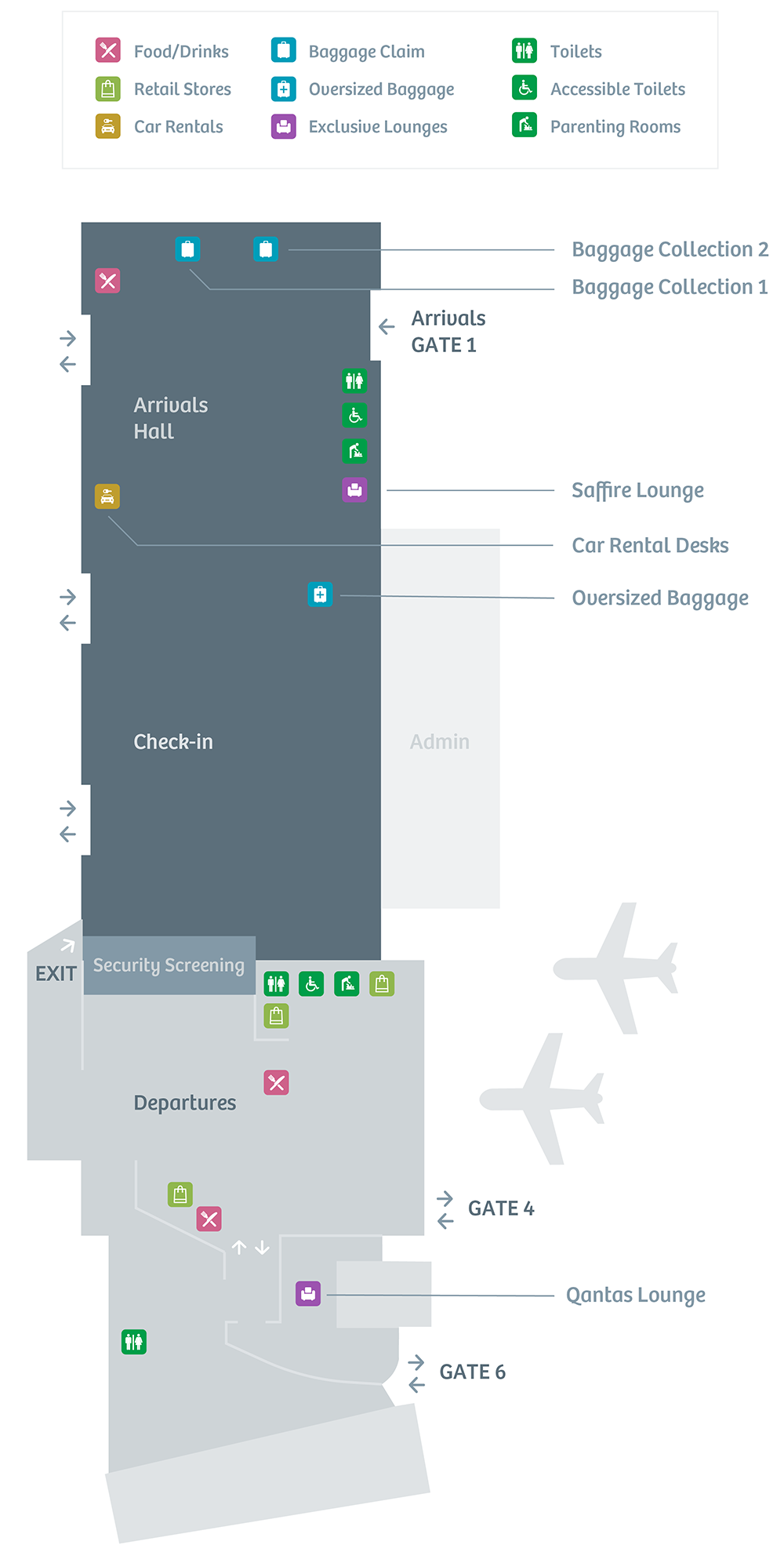 Terminal Guide : Passenger Services - Hobart Airport