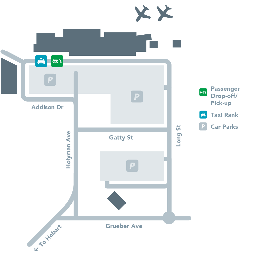 Passenger Drop Off Map